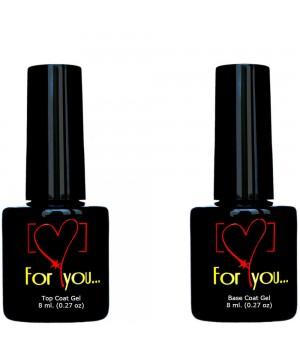 Базовый и Топ Гель для ногтей FOR YOU со скидкой!