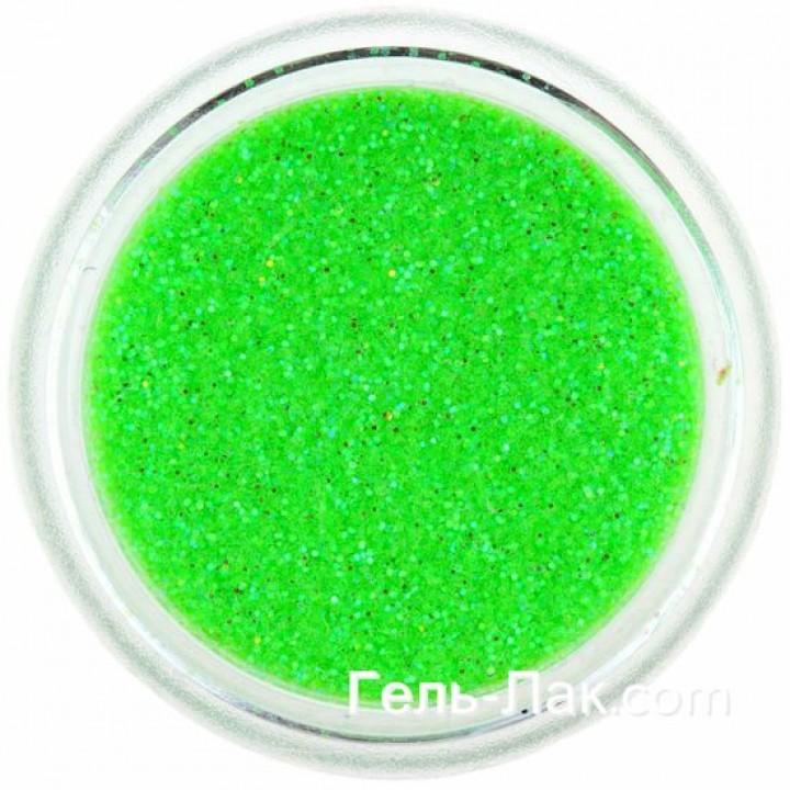 Блёстки для дизайна ногтей Кислотно Зелёные Голографические №91
