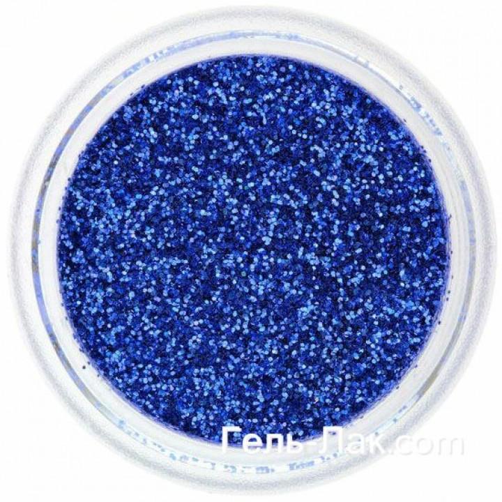 Блёстки для дизайна ногтей Синие №49
