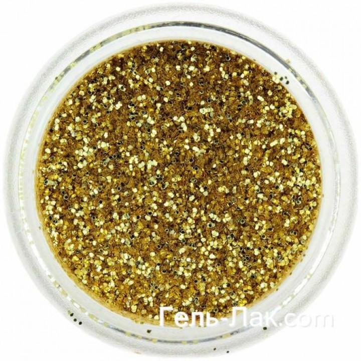 Блёстки для дизайна ногтей Золото №15