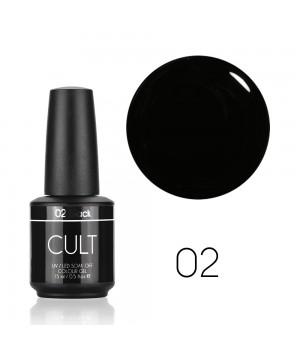 Гель лак CULT №02 Black 15 мл