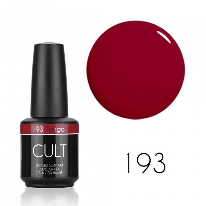 Гель лак для ногтей Cult №193 Tango 15 мл (тёмно красный)