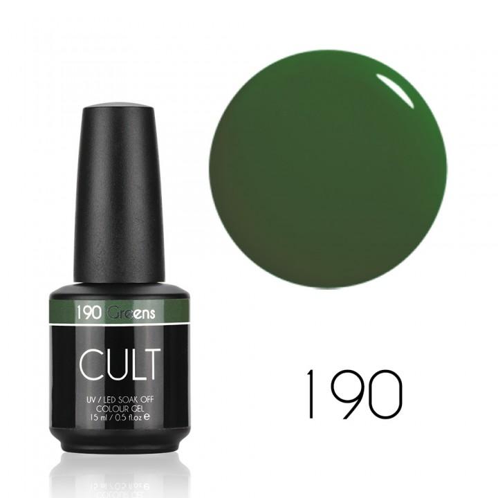 Гель лак для ногтей CULT (КУЛЬТ) №190 Greens 15 мл
