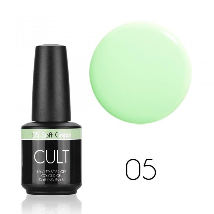 Гель лак для ногтей Cult №05 Soft Green (мятный)