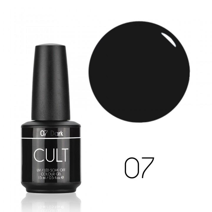 Гель лак для ногтей Cult №07 Dark (серо чёрный)