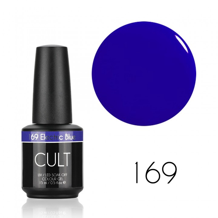 Гель лак для ногтей CULT №169 Electric Blue 15 мл