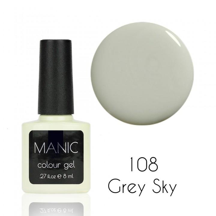 Гель лак для ногтей MANIC №108 Grey Sky