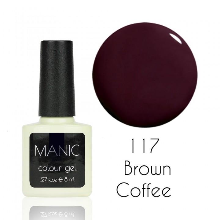 Гель лак для ногтей MANIC №117 Brown Coffee