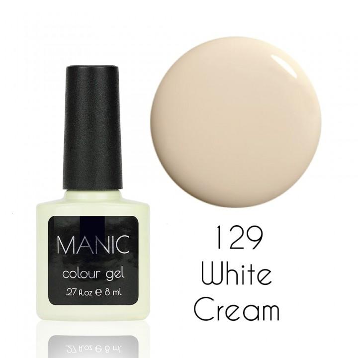 Гель лак для ногтей MANIC №129 White Cream