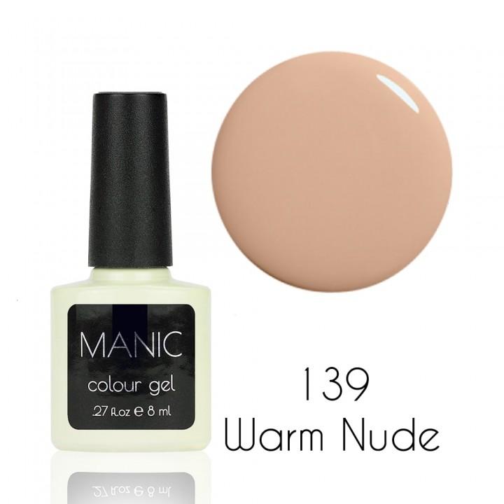 Гель лак для ногтей MANIC №139 Warm Nude