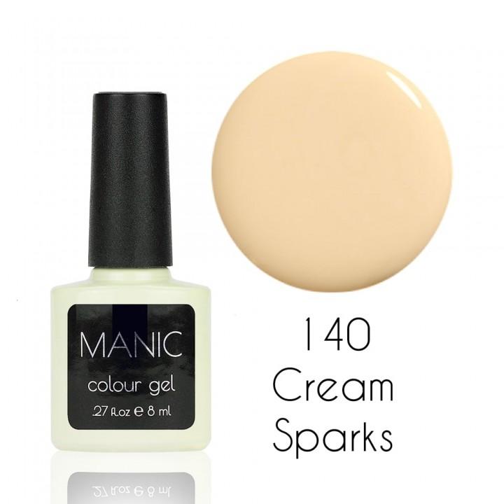 Гель лак для ногтей MANIC №140 Cream Sparks