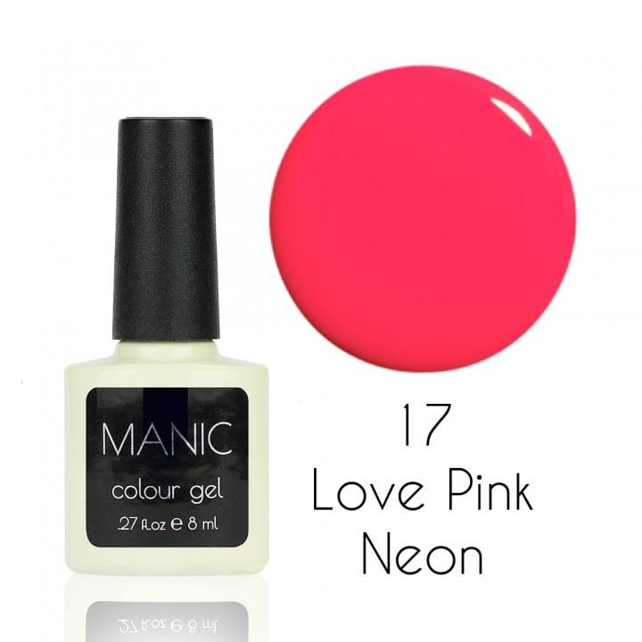 Гель лак для ногтей MANIC №17 Love Pink Neon