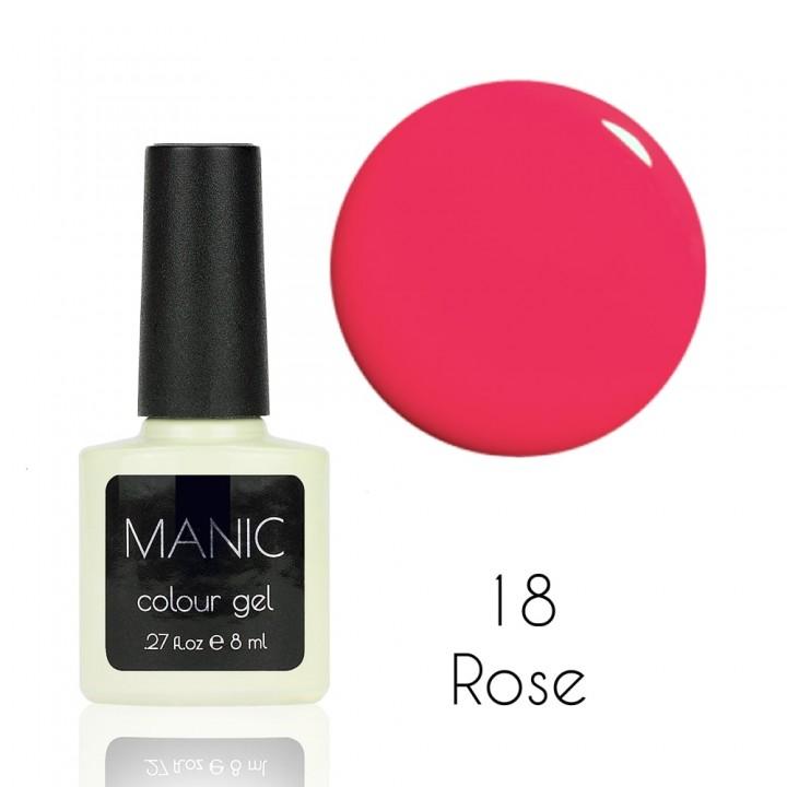 Гель лак для ногтей MANIC №18 Rose
