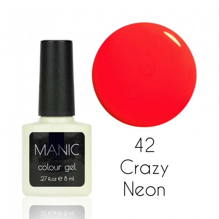 Гель лак для ногтей MANIC №42 Crazy Neon