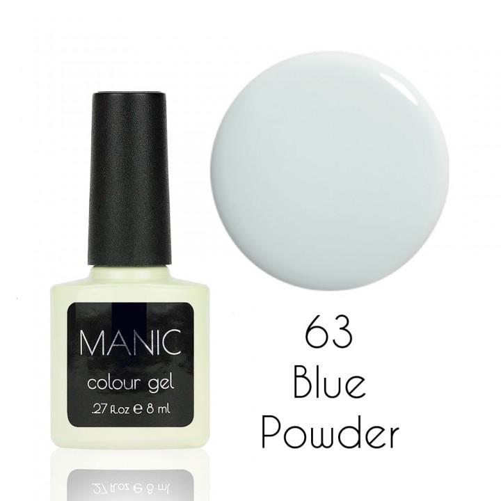 Гель лак для ногтей MANIC №63 Blue Powder