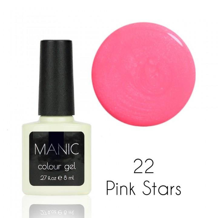 Гель лак для ногтей MANIC №22 Pink Stars