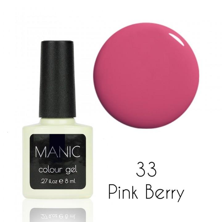 Гель лак для ногтей MANIC №33 Pink Berry