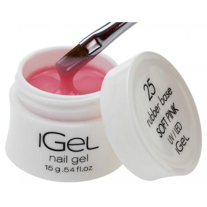 Камуфлирующая каучуковая база Soft Pink iGel №25