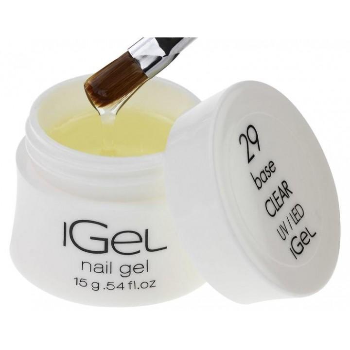 Базовый гель для ногтей Base Gel Clear iGel №29
