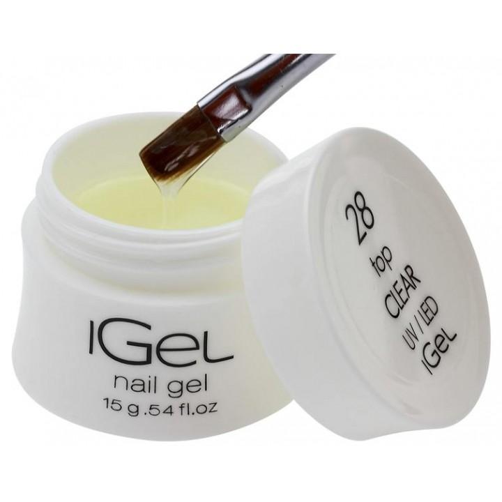 Топ гель для ногтей Top Gel Clear iGel №28