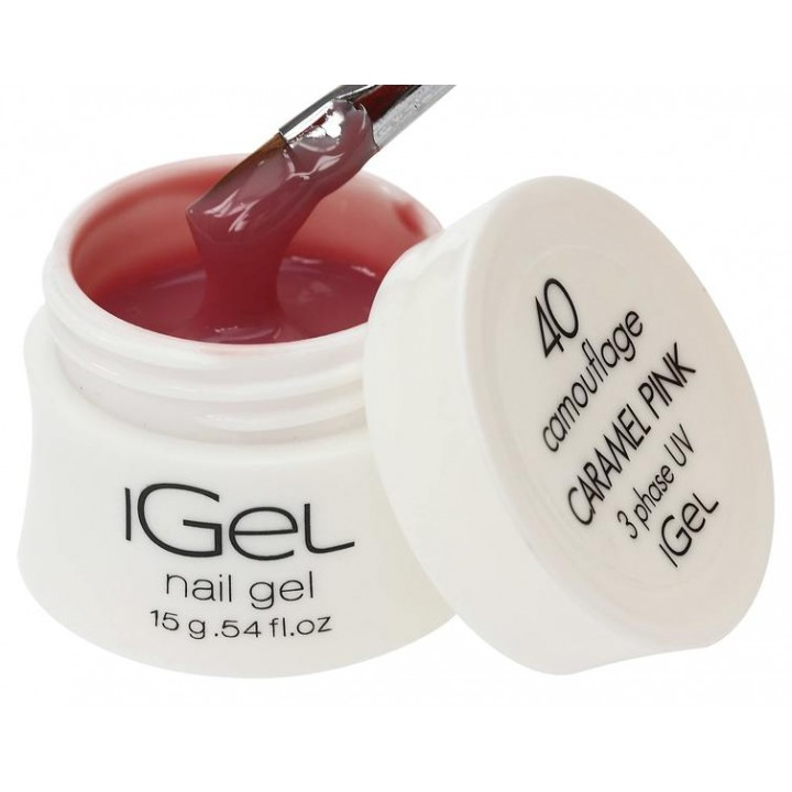 Гель для наращивания ногтей Caramel Pink iGel №40