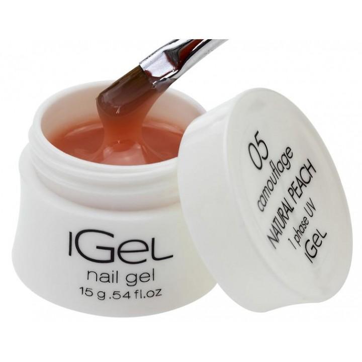 Гель для наращивания ногтей Natural Peach iGel №05