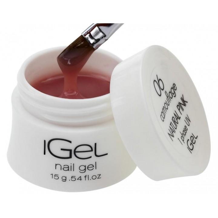 Гель для наращивания ногтей Natural Pink iGel №06