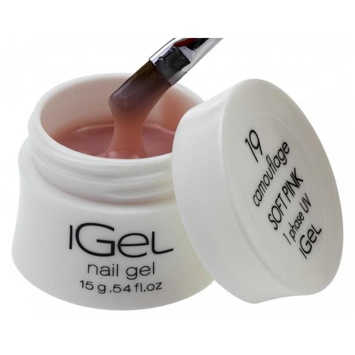 Гель для наращивания ногтей Soft Pink iGel №19