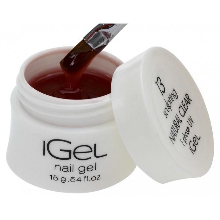 Гель для наращивания ногтей Natural Clear iGel №13