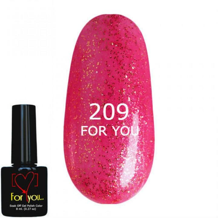 Карминовое Сияние Гель Лак для ногтей FOR YOU №209
