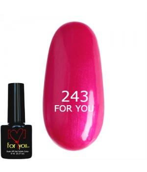 Розовый Гель Лак FOR YOU №243