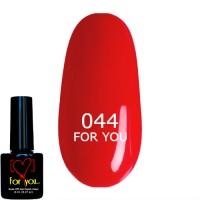 Ярко Красный Гель Лак FOR YOU №044