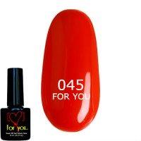 Светло Красный Гель Лак FOR YOU №045