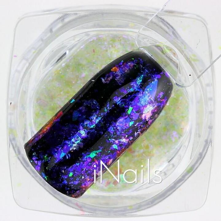 Хлопья Юки Голографические для дизайна ногтей №11