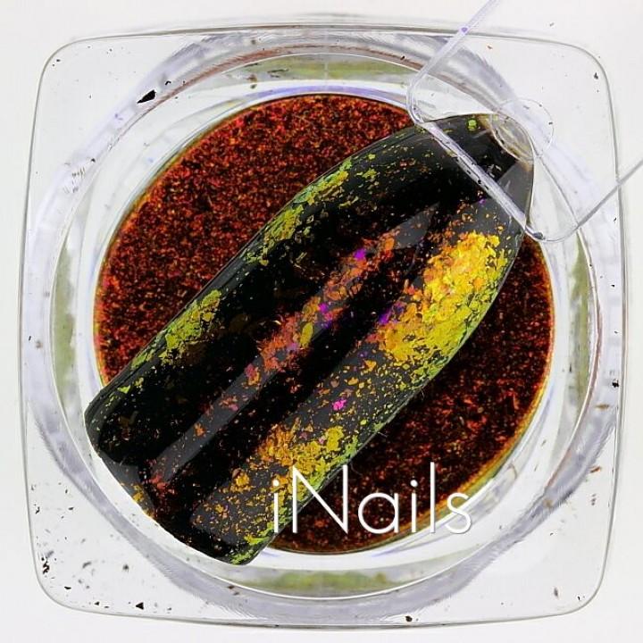 Хлопья Юки Голографические для дизайна ногтей №15