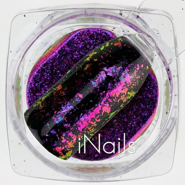 Хлопья Юки Голографические для дизайна ногтей №17