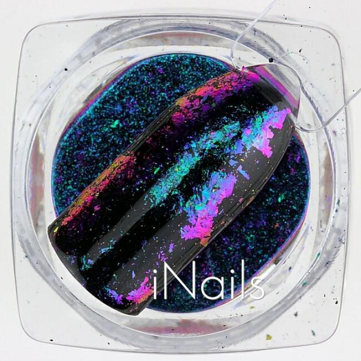 Хлопья Юки Голографические для дизайна ногтей №18