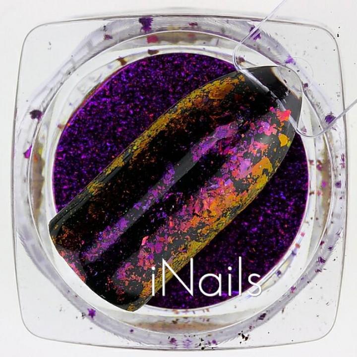 Хлопья Юки Голографические для дизайна ногтей №20