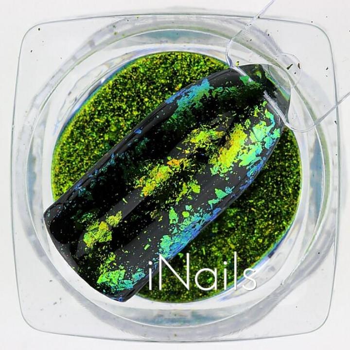 Хлопья Юки Голографические для дизайна ногтей №23