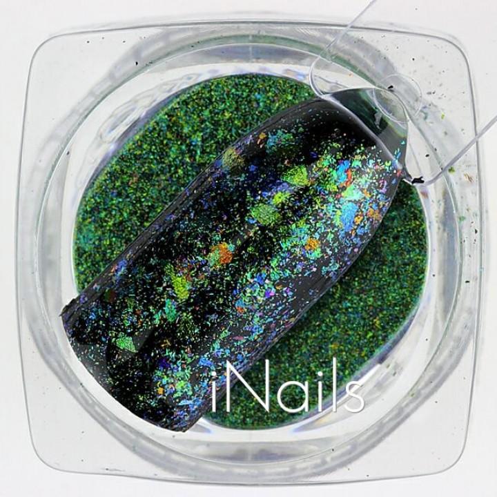 Хлопья Юки Голографические для дизайна ногтей №28