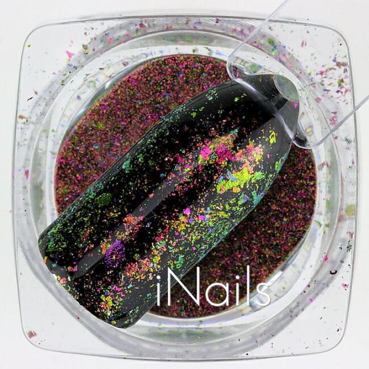 Хлопья Юки Голографические для дизайна ногтей №30
