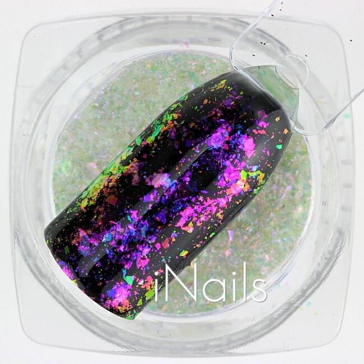 Хлопья Юки Голографические для дизайна ногтей №04