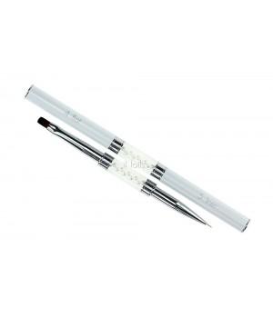 Кисть для дизайна ногтей Flat #4 / Liner #5