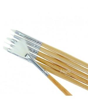 Набор кисточек для дизайна и рисования ногтей 6 шт.