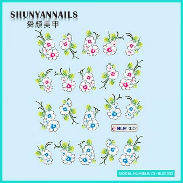 Слайдер дизайн для ногтей, Водные Наклейки Цветы сакура