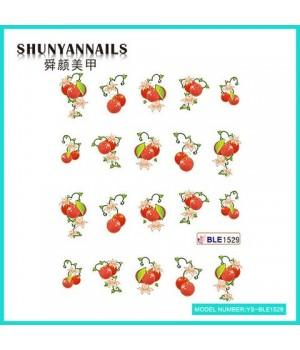 Водные Наклейки, Слайдер дизайн для ногтей Фрукты, ягоды