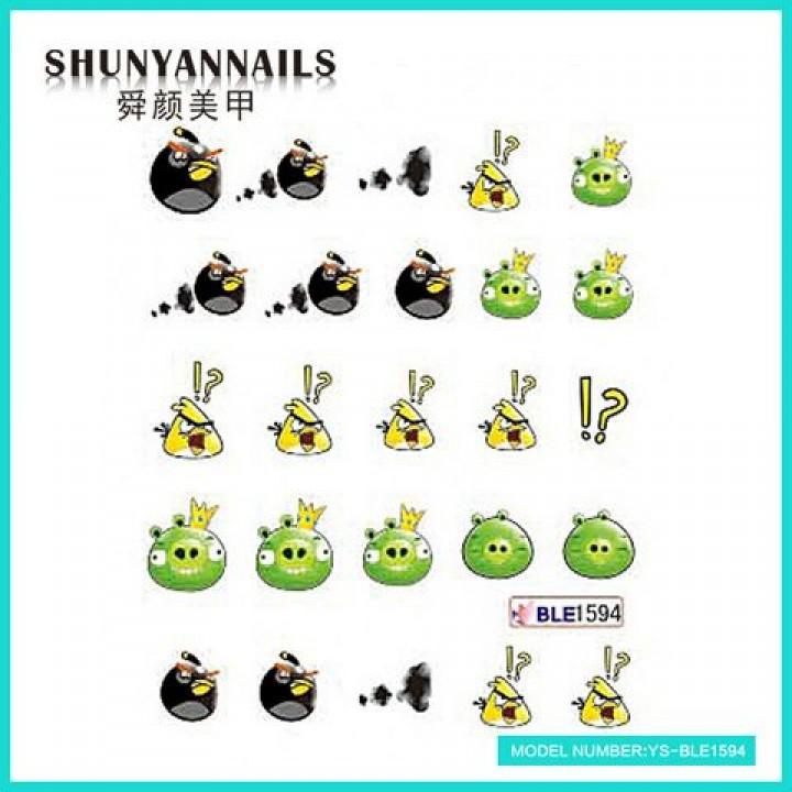 Слайдер дизайн для ногтей, Водные Наклейки Мультяшки, Angry Birds