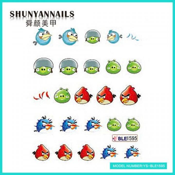 Слайдер дизайн для ногтей, Водные Наклейки Птички, Angry Birds