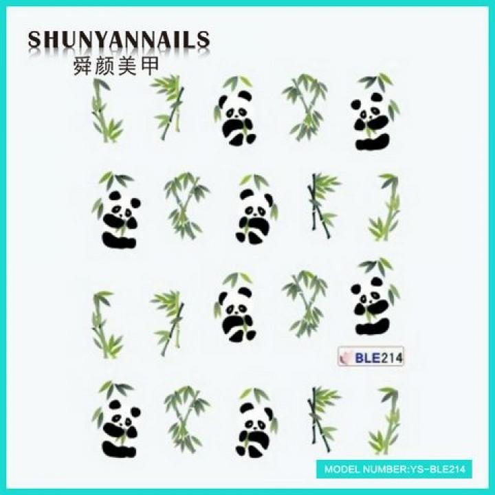 Слайдер дизайн для ногтей, Водные Наклейки Панда, животные