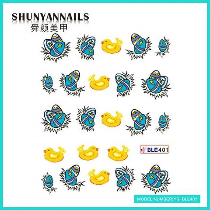 Слайдер дизайн для ногтей, Водные Наклейки Пасхальные яйца, птички